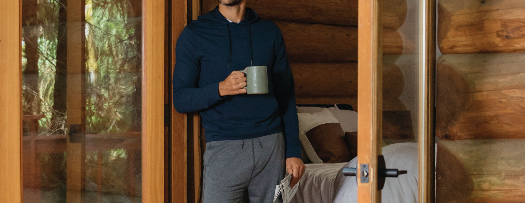 mens lounge - gift guide - bamboo apparel - tasc performance