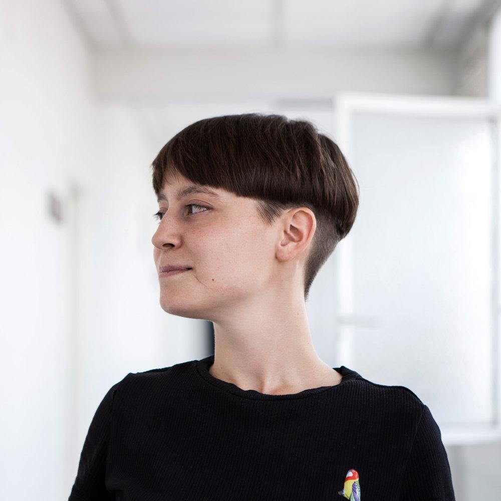 2020, Susie Hammer in her studio.