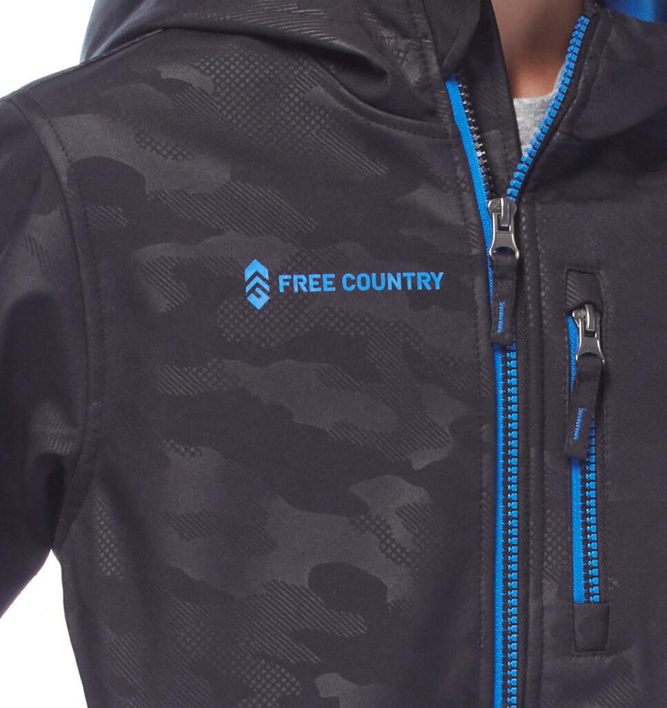Free Country Boys' Gradient Softshell Jacket - Team Orange