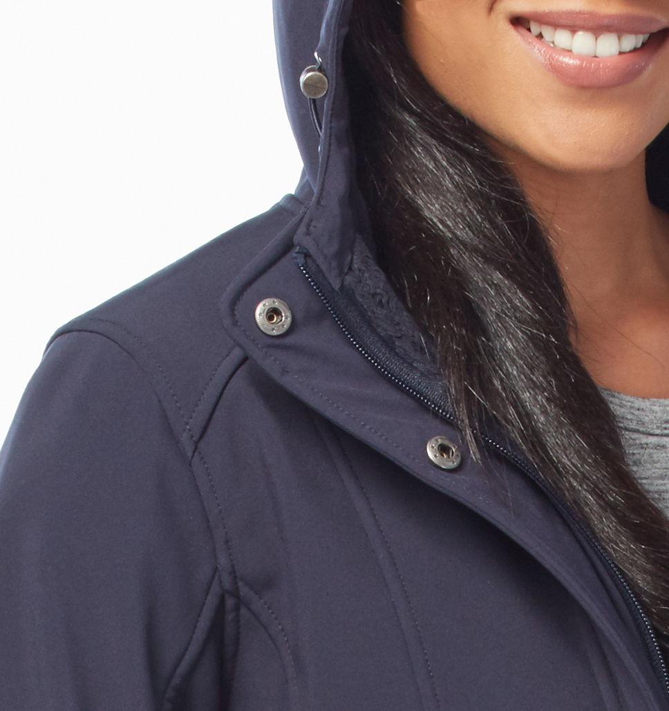 Free Country Women's Plus Size Maneuver Softshell Jacket - Navy - 1X