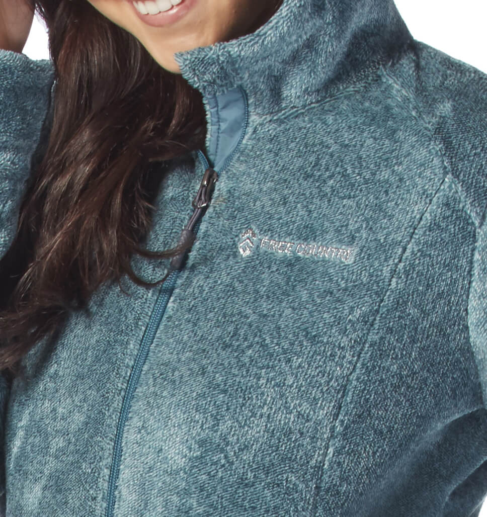 Women's Elegance Heather Butter Pile Fleece Jacket