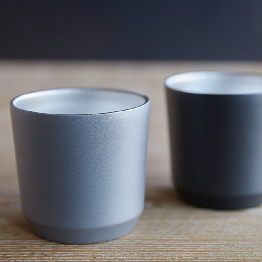 TO GO tumbler 240ml in gray and black