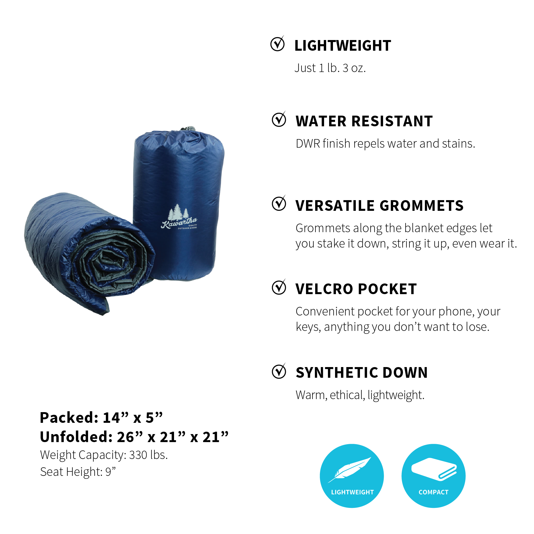 Buy 1 Base Camp Blanket - Get 2 Dry Bag Coolers FREE