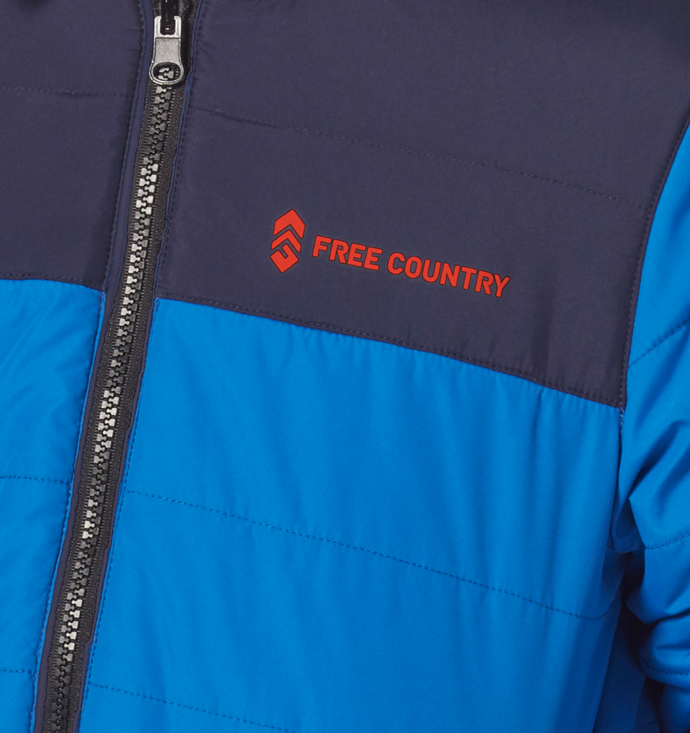 Free Country Boys' Compact Puffer Jacket - Robin Blue - S