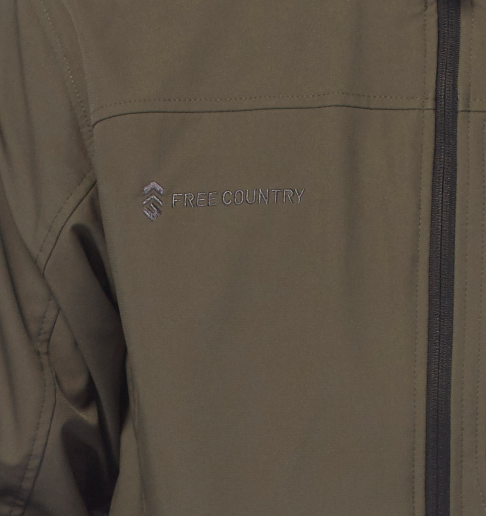 Free Country Men's Big and Tall Odyssey Super Softshell Jacket - Charcoal