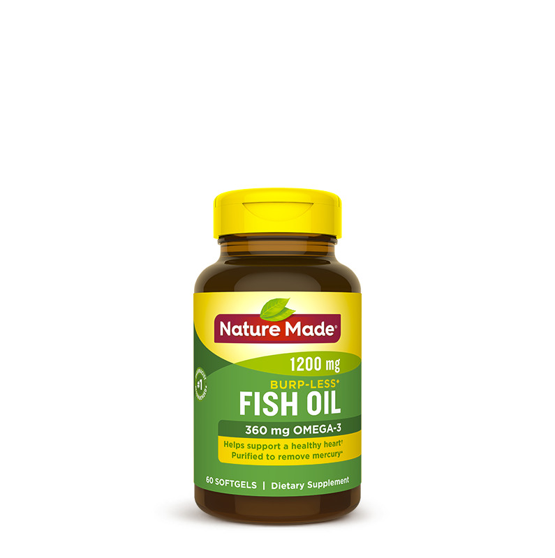 Nature Made® Fish Oil 1,200 mg Softgels, Burp-Less♦
