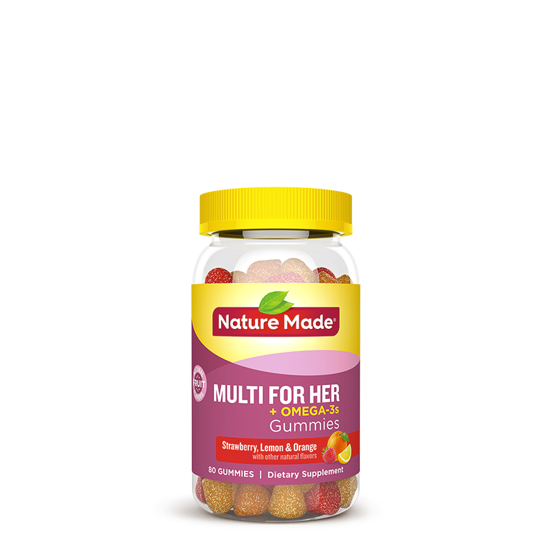 Nature Made® Multi for Her + Omega-3 Gummies
