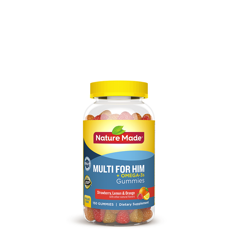 Nature Made® Multi for Him + Omega-3 Gummies