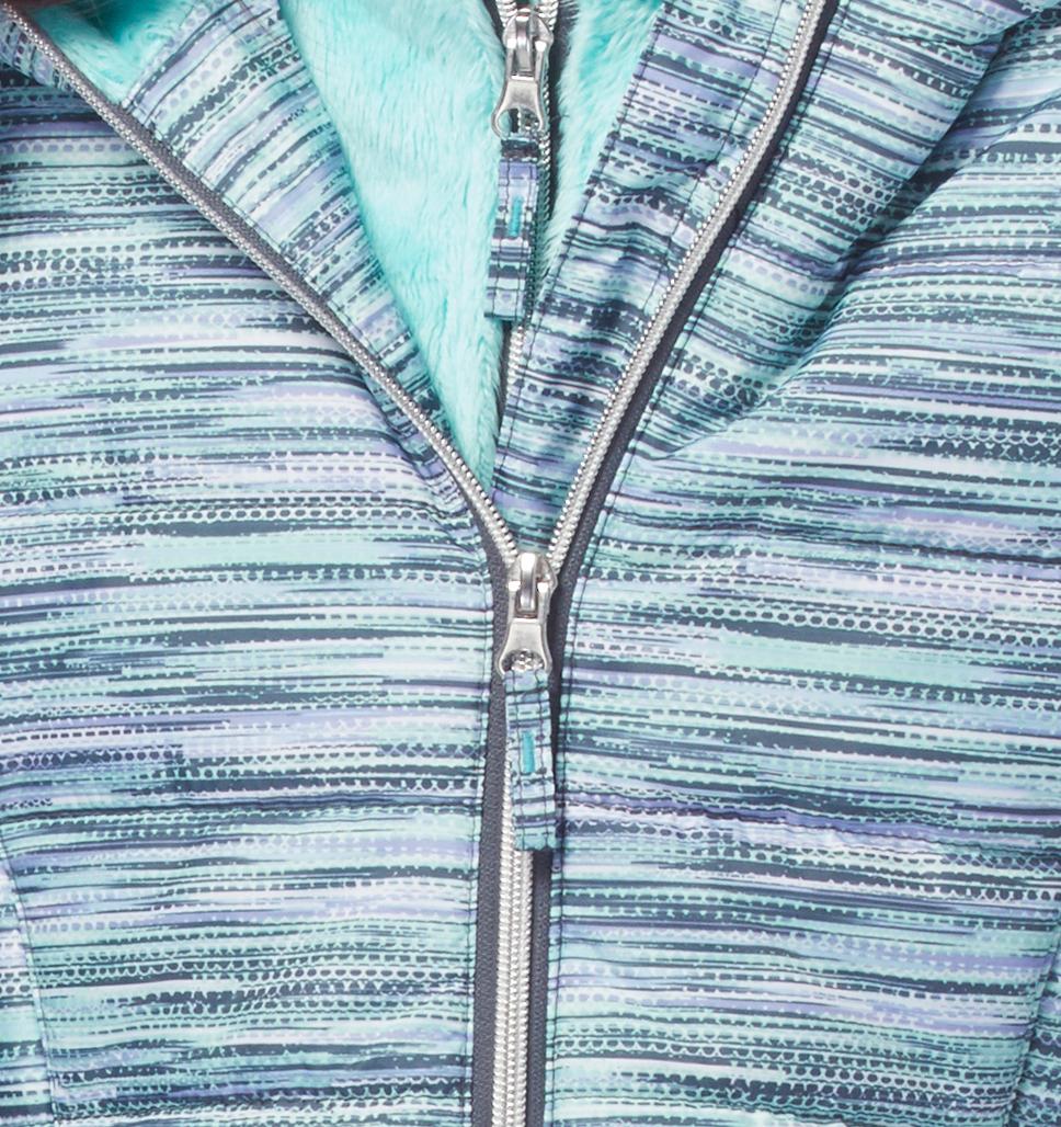 Girls' Sleek Quilted Bib Puffer Jacket