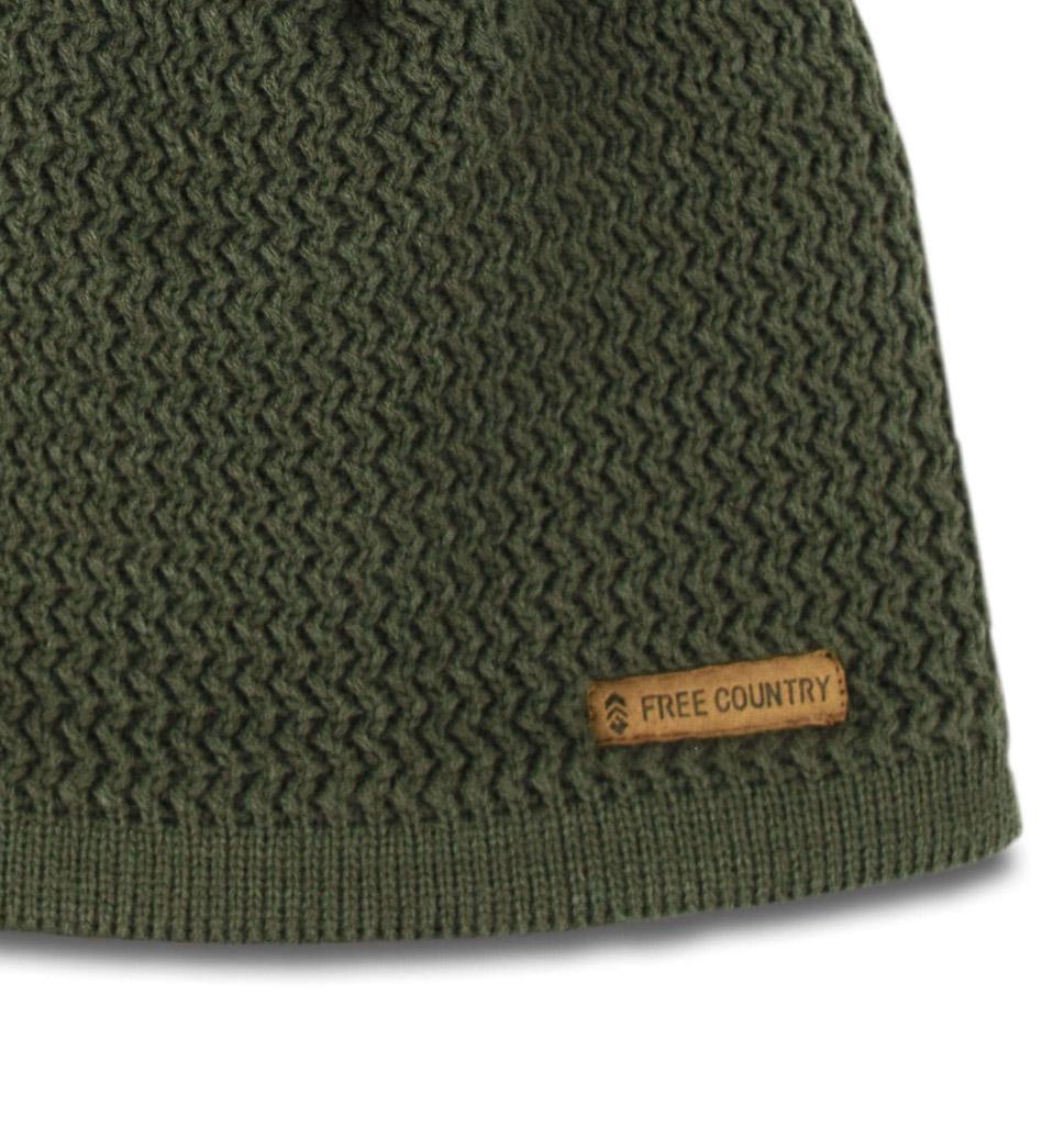 Men's Texture Knit Fleece-Lined Beanie