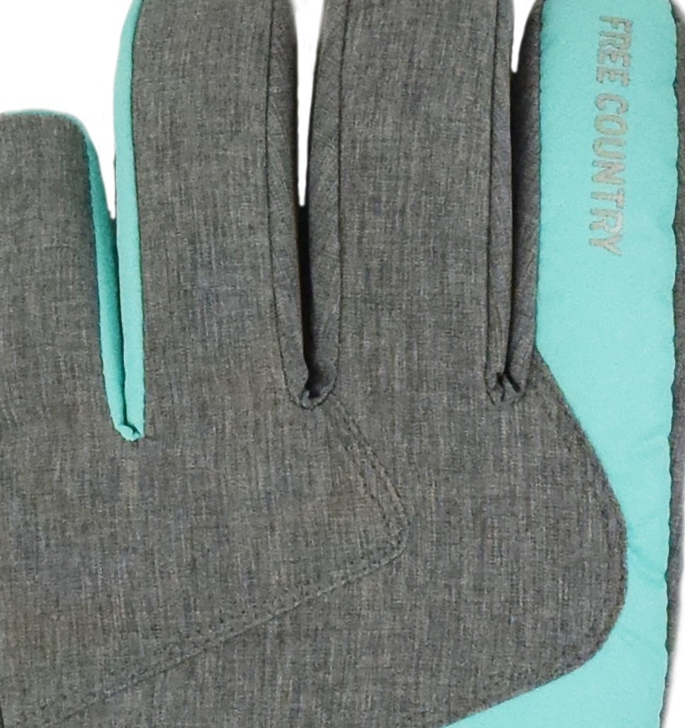 Free Country Women's Heather Ski Glove - Grey-Cranberry - M/L
